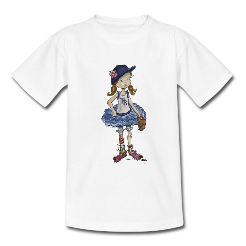 Girls Toddler Tampa Bay Rays Tiny Turnip Babes T-Shirt - White