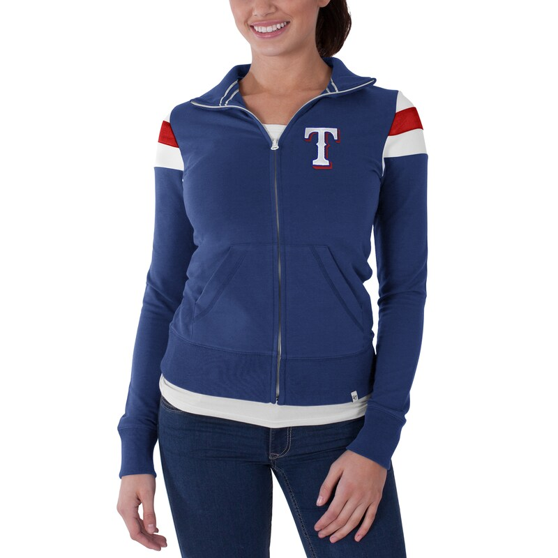 Texas Rangers '47 Women's Crossover Full Zip Track Jacket - Blue