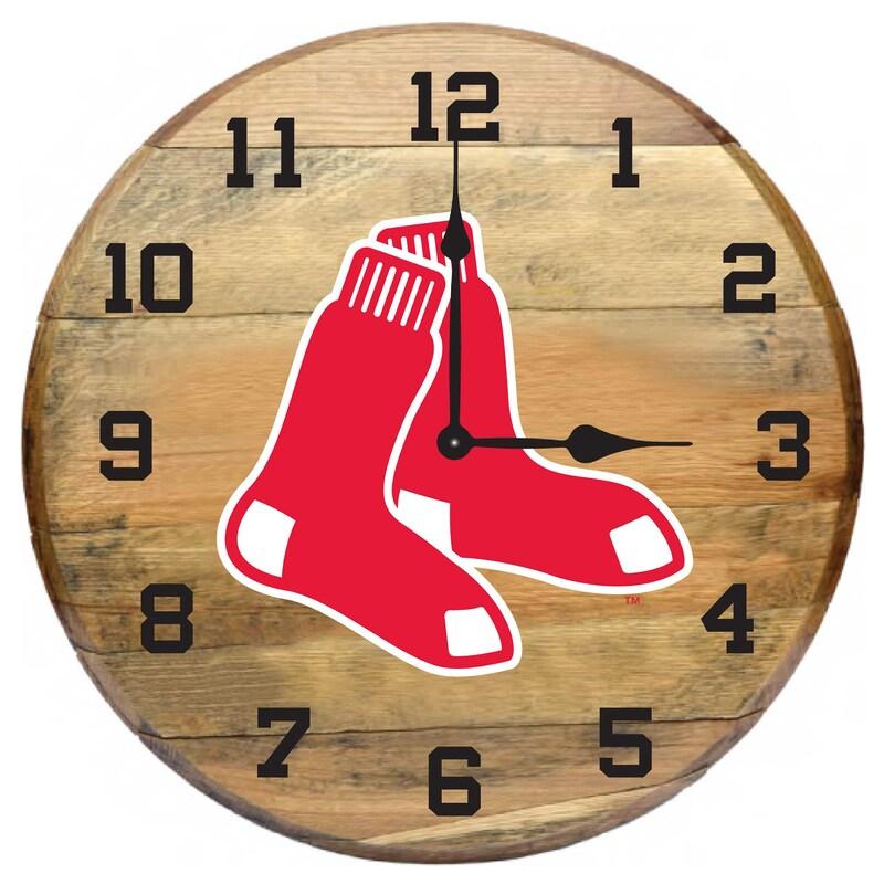 Boston Red Sox Imperial Oak Barrel Clock