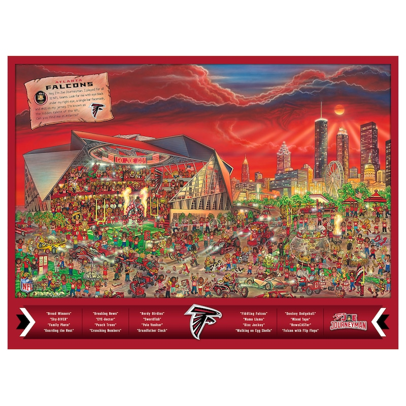Atlanta Falcons 500-Piece Joe Journeyman Puzzle