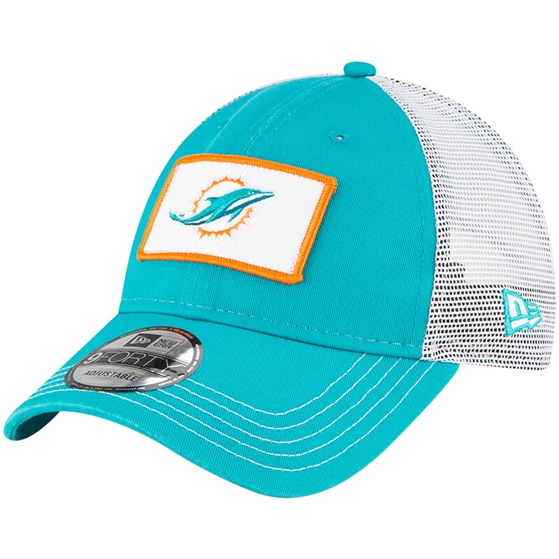 Miami Dolphins New Era Jammer Trucker 9FORTY Snapback Hat - Aqua