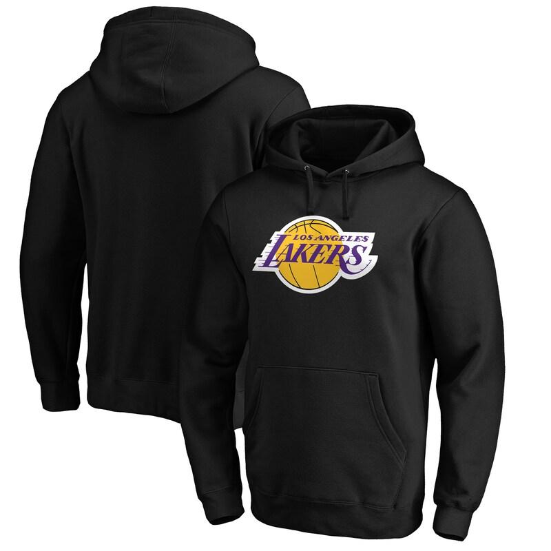 Los Angeles Lakers Fanatics Branded Primary Team Logo Pullover Hoodie - Black
