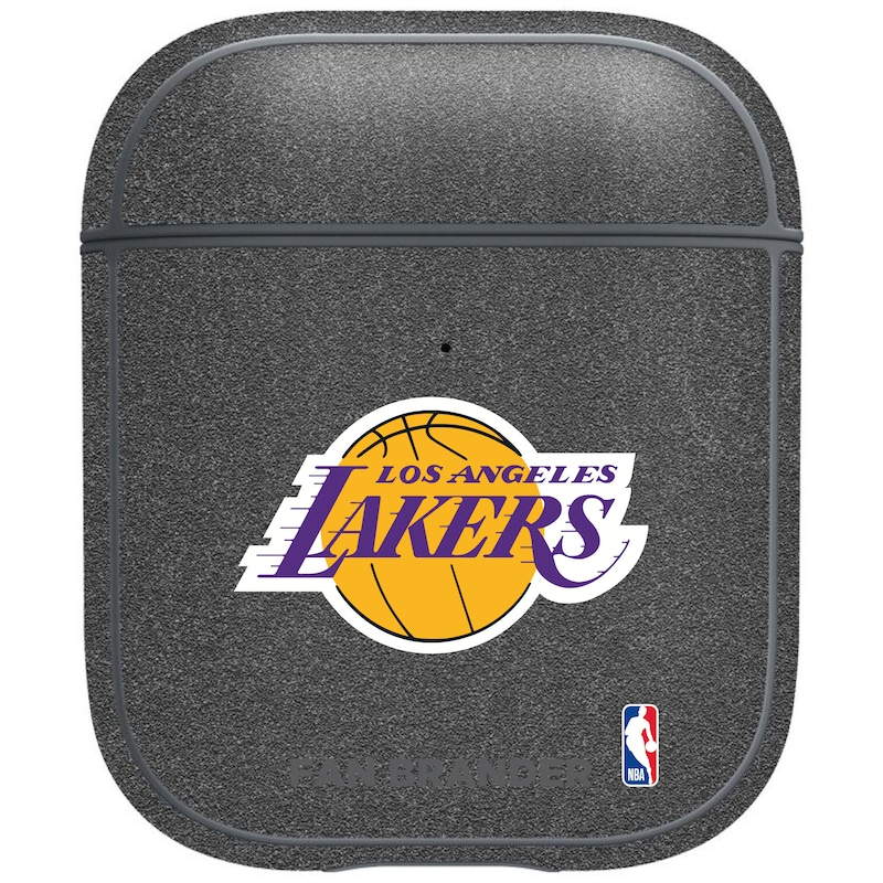 Los Angeles Lakers Air Pods Metallic Case - Gray