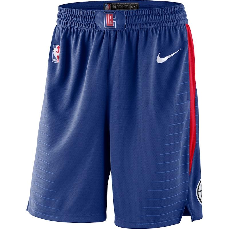 LA Clippers Nike 2019/20 Icon Edition Swingman Shorts - Royal