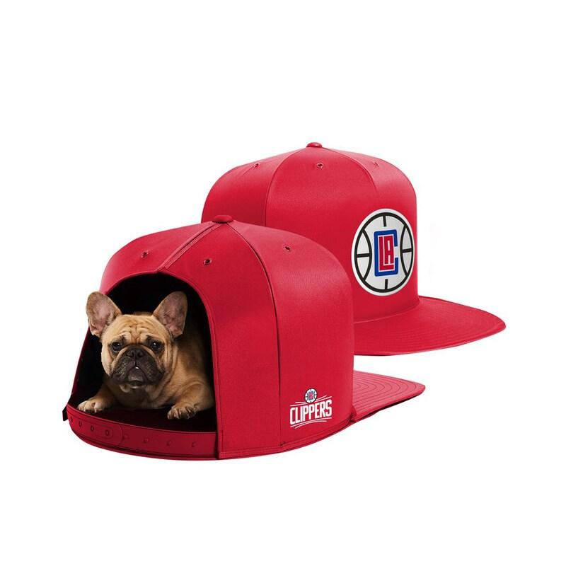 LA Clippers Medium Pet Nap Cap - Red