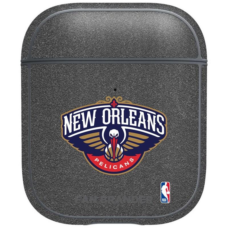 New Orleans Pelicans Air Pods Metallic Case - Gray