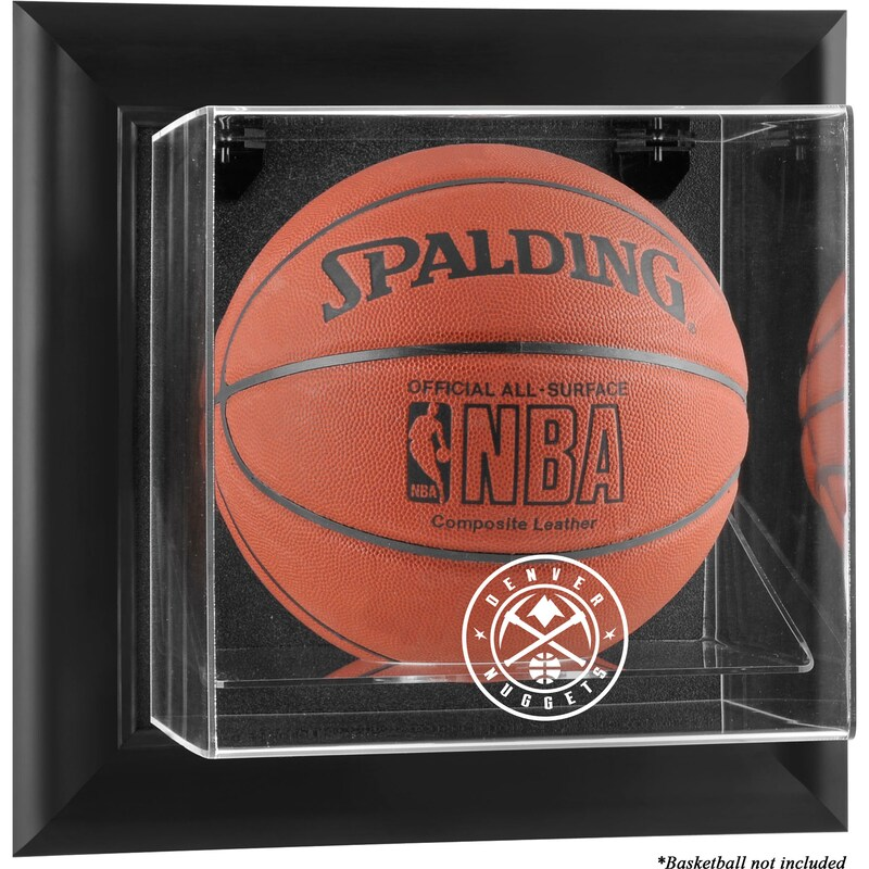 Denver Nuggets Fanatics Authentic Framed Black Wall-Mountable Team Logo Basketball Display Case