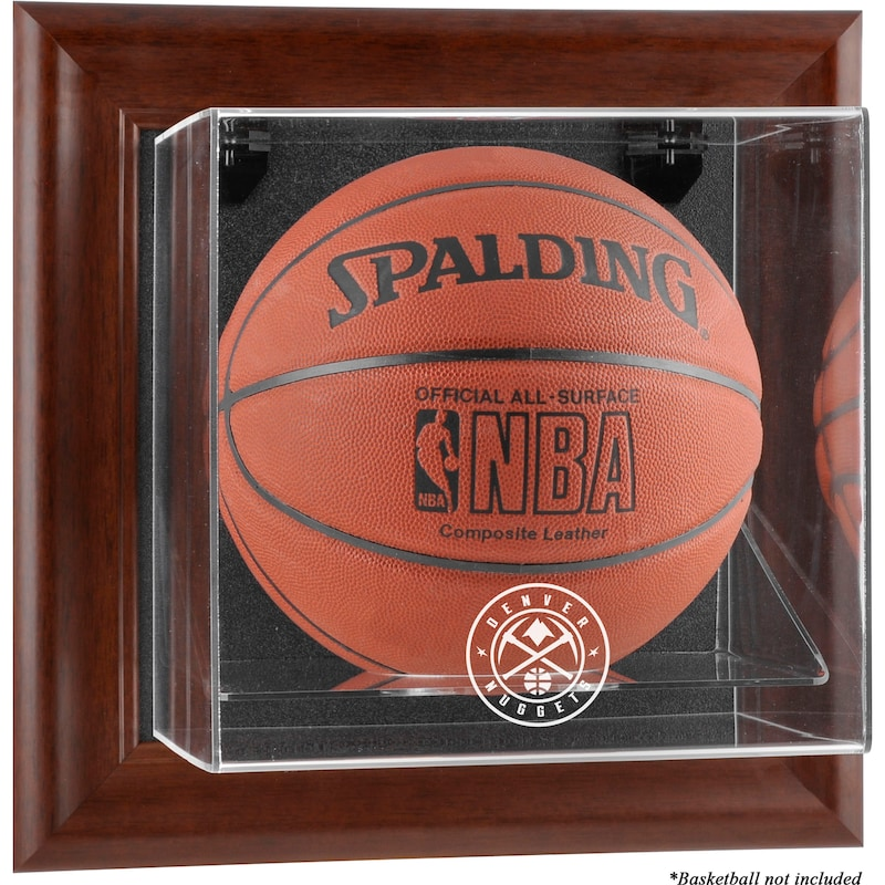 Denver Nuggets Fanatics Authentic Framed Brown Wall-Mountable Team Logo Basketball Display Case