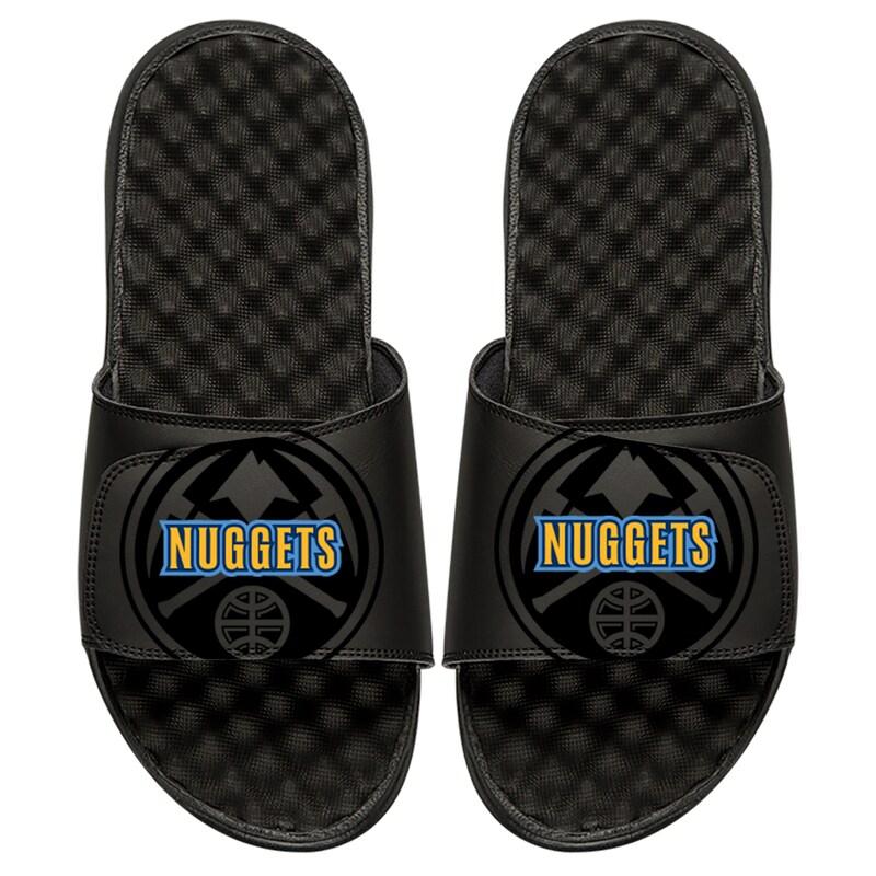 Denver Nuggets ISlide Youth Tonal Pop Slide Sandals - Black