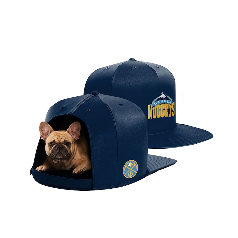 Denver Nuggets Medium Pet Nap Cap - Navy
