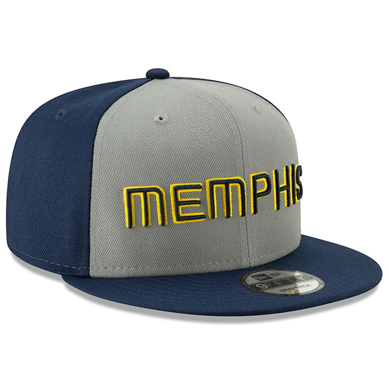 Memphis Grizzlies New Era 2018 City Edition On-Court 9FIFTY Snapback Adjustable Hat - Gray