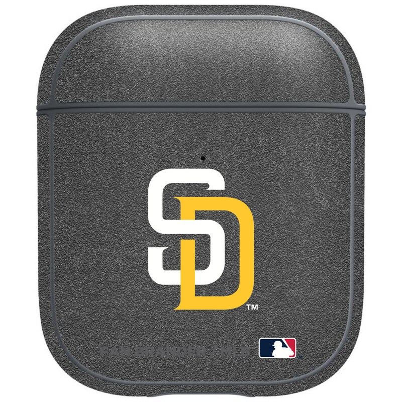 San Diego Padres Air Pods Metallic Case - Gray