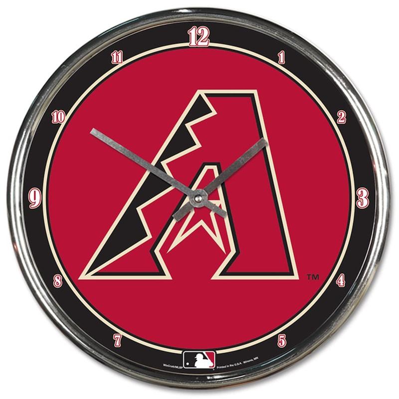 """Arizona Diamondbacks WinCraft 12"""" Chrome Clock"""