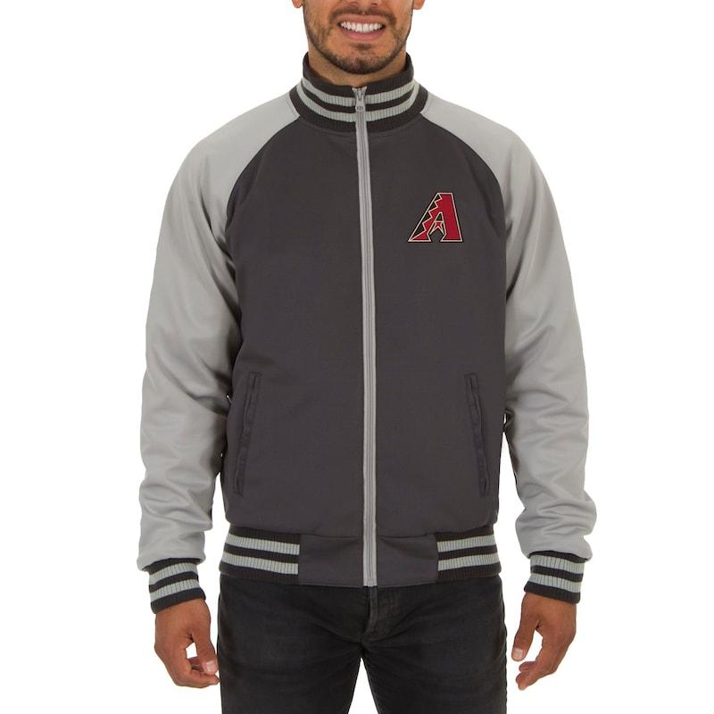 Arizona Diamondbacks JH Design Reversible Track Jacket - Gray