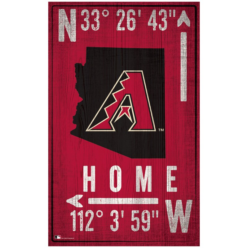 "Arizona Diamondbacks 11"" x 19"" Coordinate Sign"