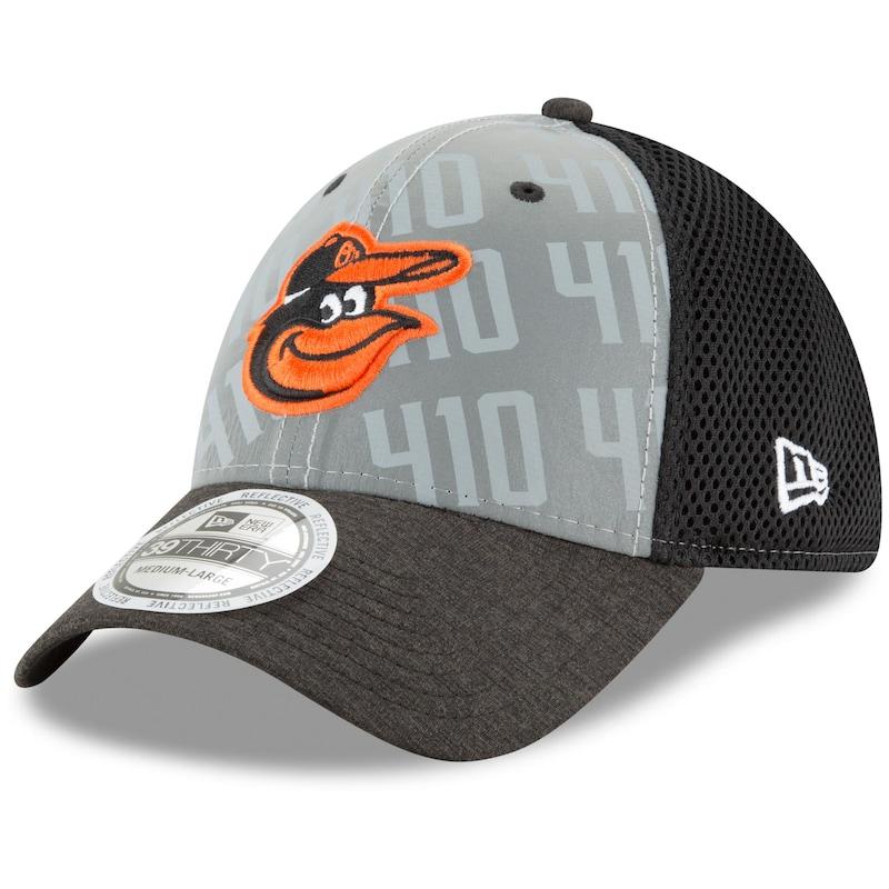 Baltimore Orioles New Era Code Flect 39THIRTY Flex Hat - Gray