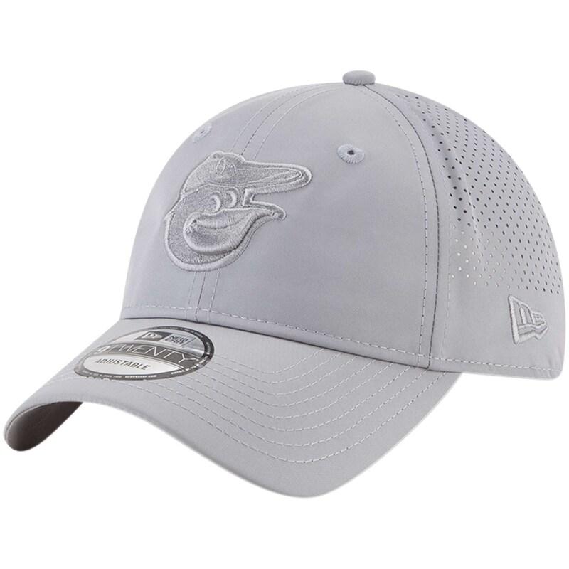 Baltimore Orioles New Era Perforated Tone 9TWENTY Adjustable Hat - Gray