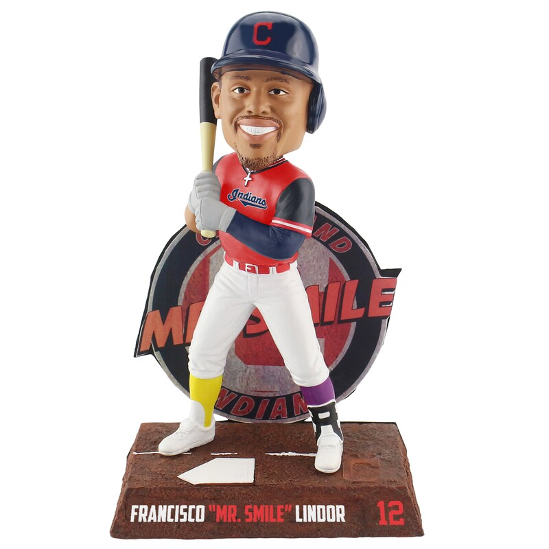 "Francisco Lindor ""Mr. Smile"" Cleveland Indians 2018 Players' Weekend 8"" Bobblehead"
