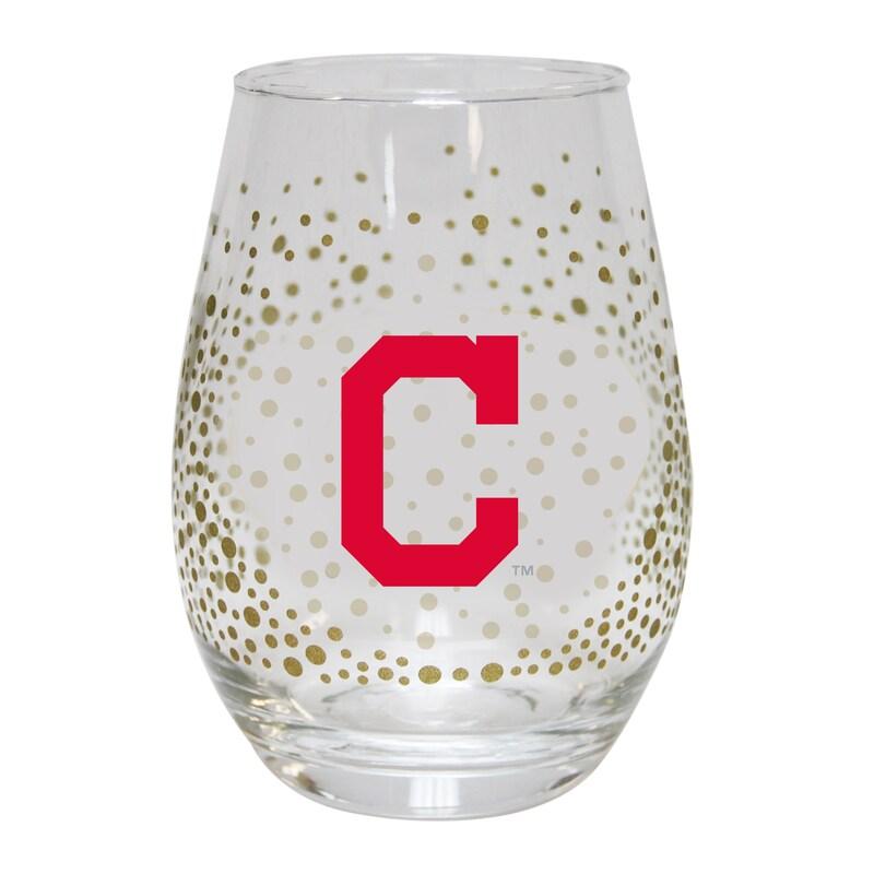 Cleveland Indians Glitter Stemless Tumbler