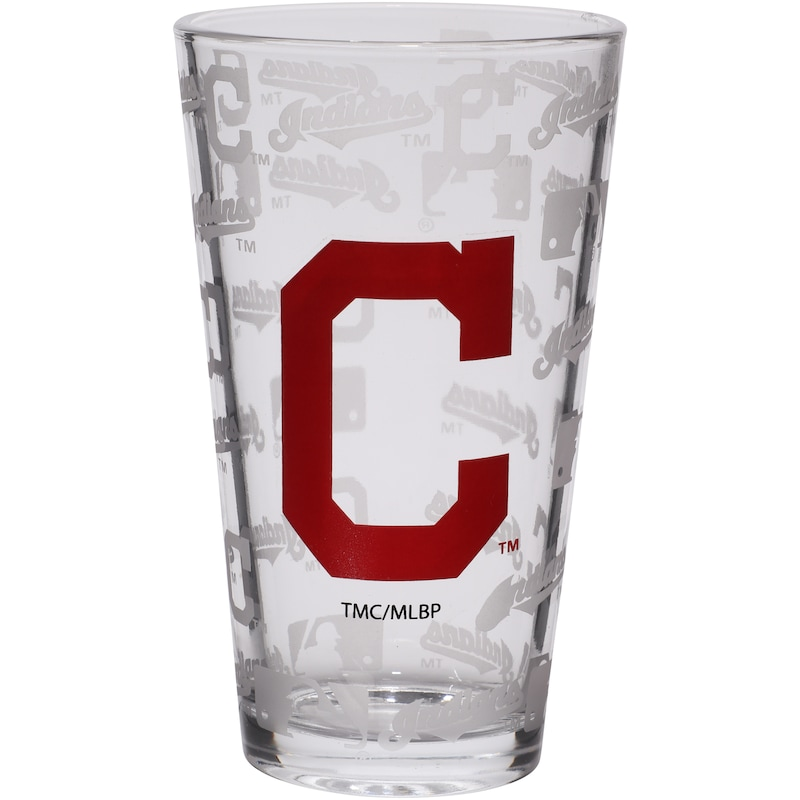 Cleveland Indians 16oz. Sandblasted Mixing Glass