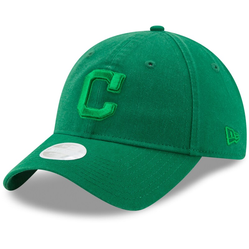 Cleveland Indians New Era Women's St. Patrick's Day Core Classic 9TWENTY Adjustable Hat - Green