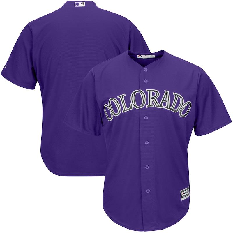 Colorado Rockies Majestic Alternate Official Cool Base Team Replica Jersey - Purple