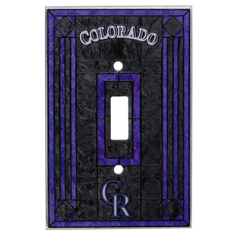 Colorado Rockies Art Glass Switch Cover