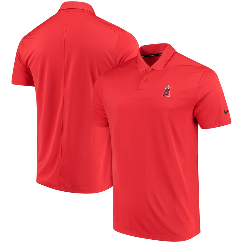 Los Angeles Angels Nike Golf Solid Victory Performance Polo - Red