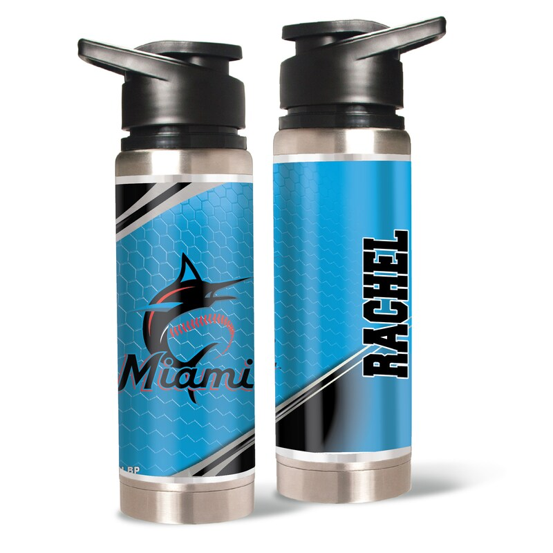 Miami Marlins 20oz. Personalized Water Bottle