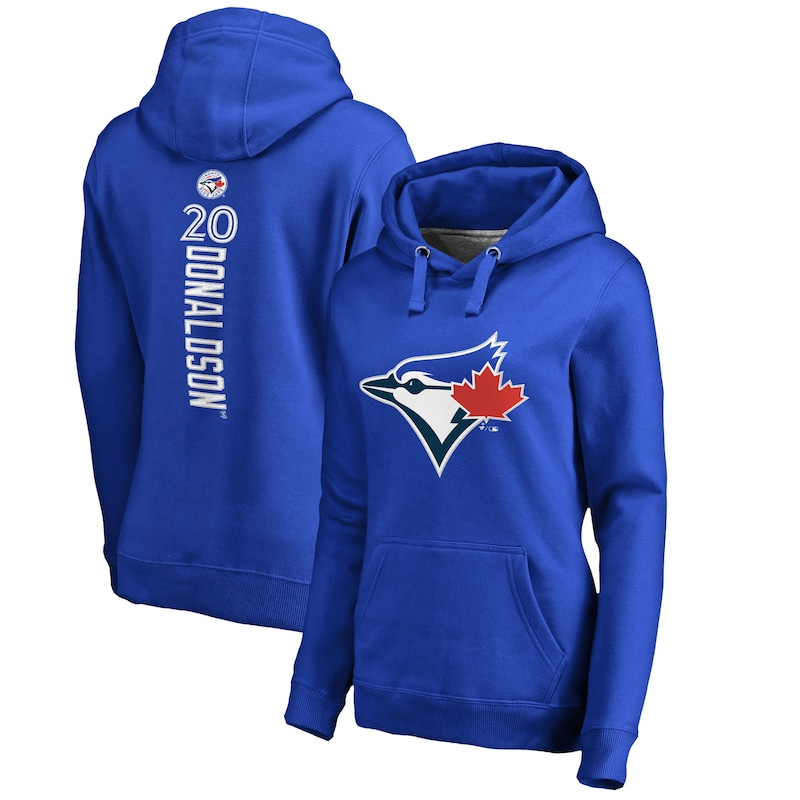 Josh Donaldson Toronto Blue Jays Fanatics Branded Women's Backer Pullover Hoodie - Royal