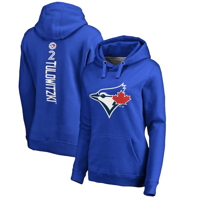 Troy Tulowitzki Toronto Blue Jays Fanatics Branded Women's Backer Pullover Hoodie - Royal