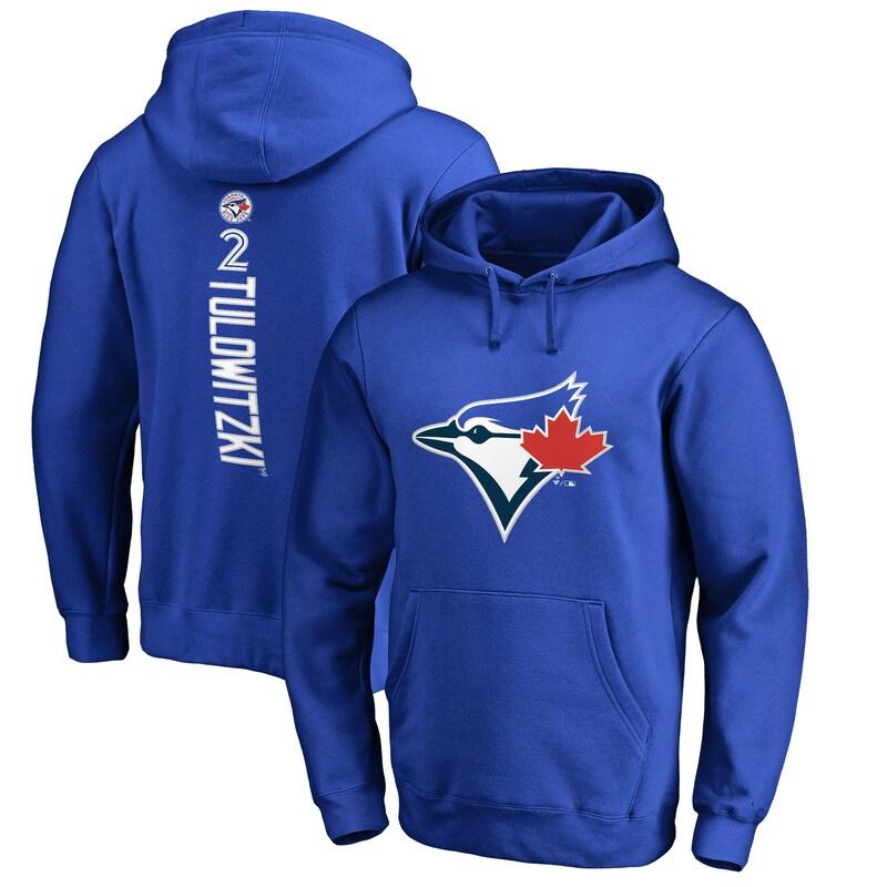 Troy Tulowitzki Toronto Blue Jays Fanatics Branded Backer Pullover Hoodie - Royal