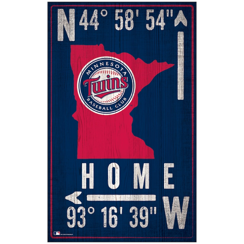 "Minnesota Twins 11"" x 19"" Coordinate Sign"