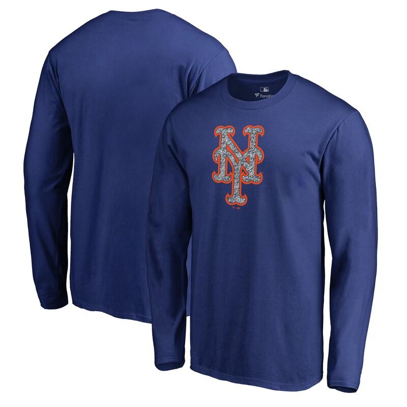 New York Mets Fanatics Branded Static Logo Long Sleeve T-Shirt - Royal