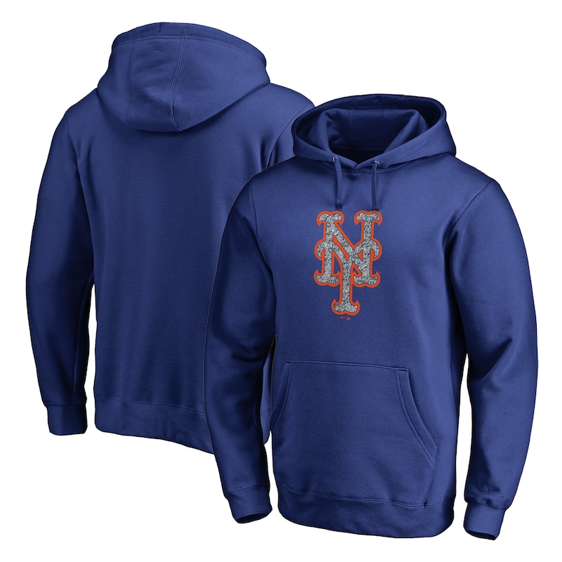 New York Mets Fanatics Branded Static Logo Pullover Hoodie - Royal