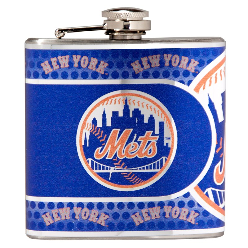 New York Mets 6oz. Stainless Steel Hip Flask - Silver
