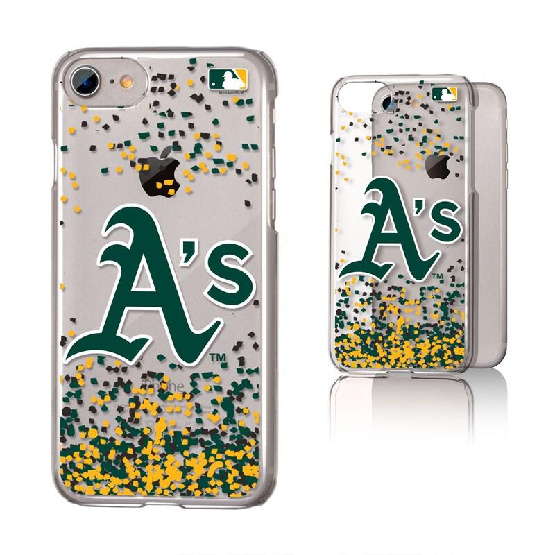 Oakland Athletics Galaxy iPhone 6/6S/7/8 Confetti Design Clear Case