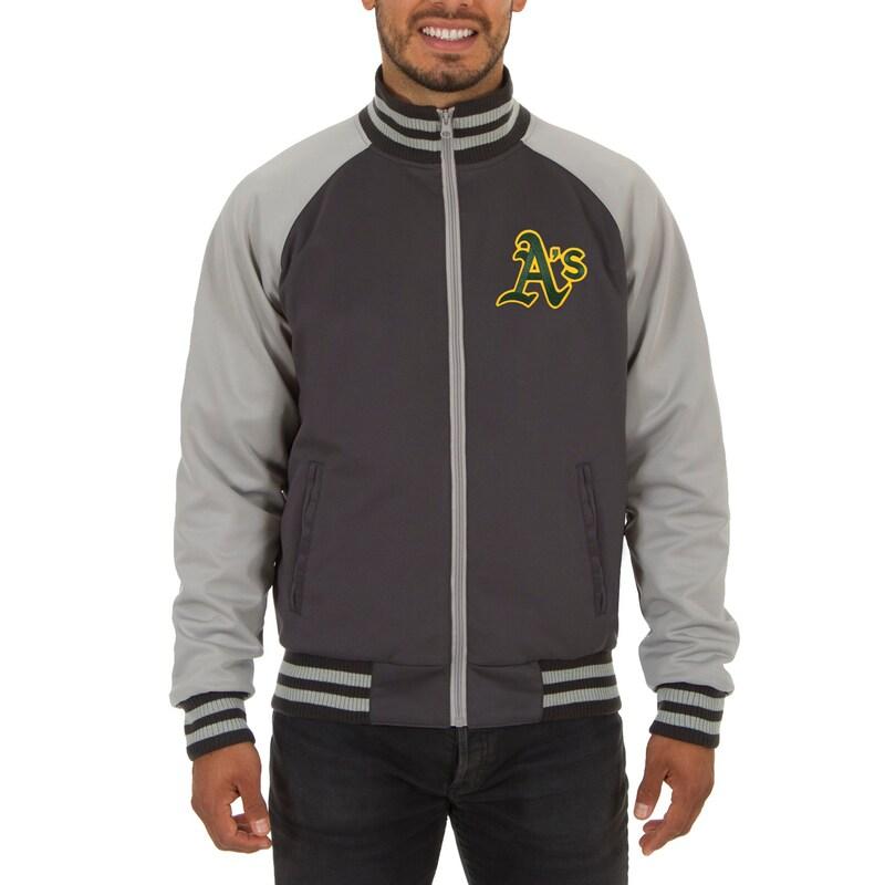 Oakland Athletics JH Design Reversible Track Jacket - Gray