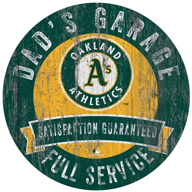 "Oakland Athletics 12"" x 12"" Dad's Garage Sign"