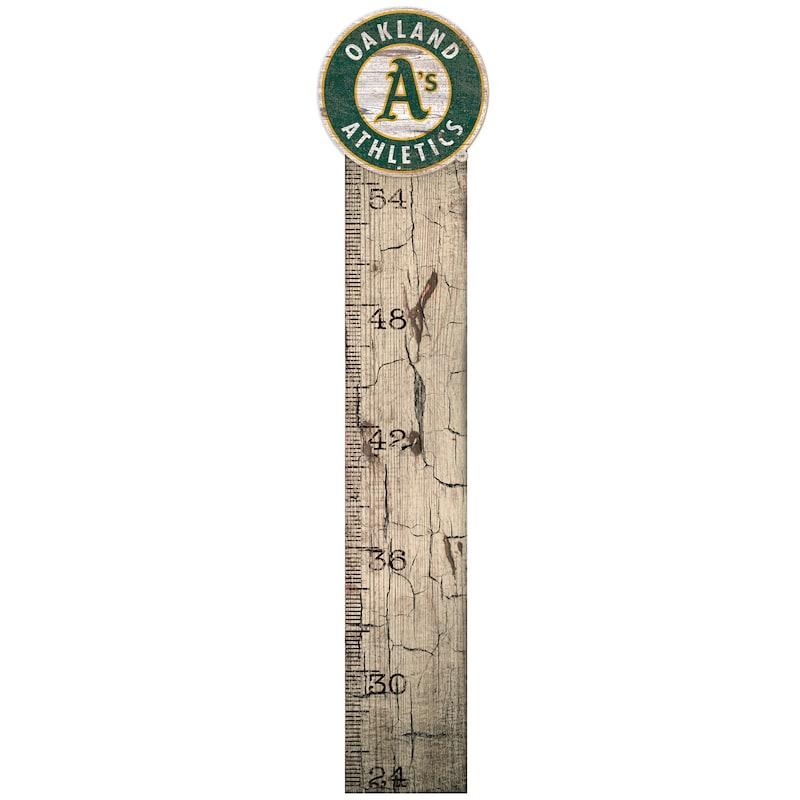 "Oakland Athletics 6"" x 36"" Growth Chart Sign"