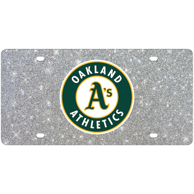 Oakland Athletics WinCraft Acrylic Glitter License Plate