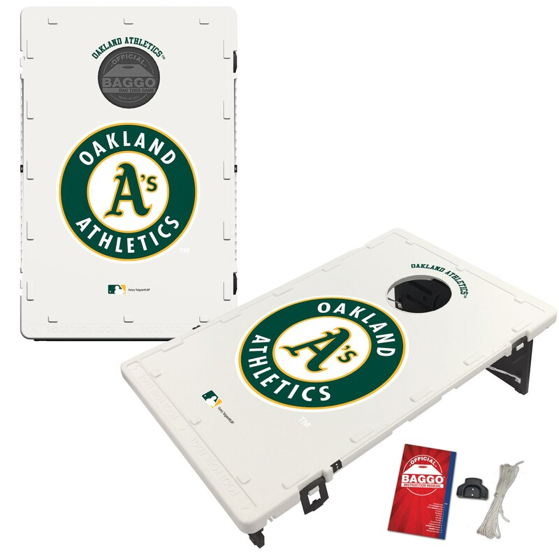 Oakland Athletics 2' x 3' BAGGO Classic Cornhole Board Tailgate Toss Set