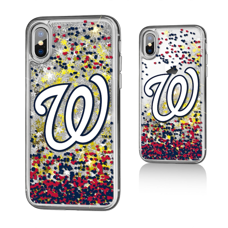 Washington Nationals iPhone X/Xs Glitter Case