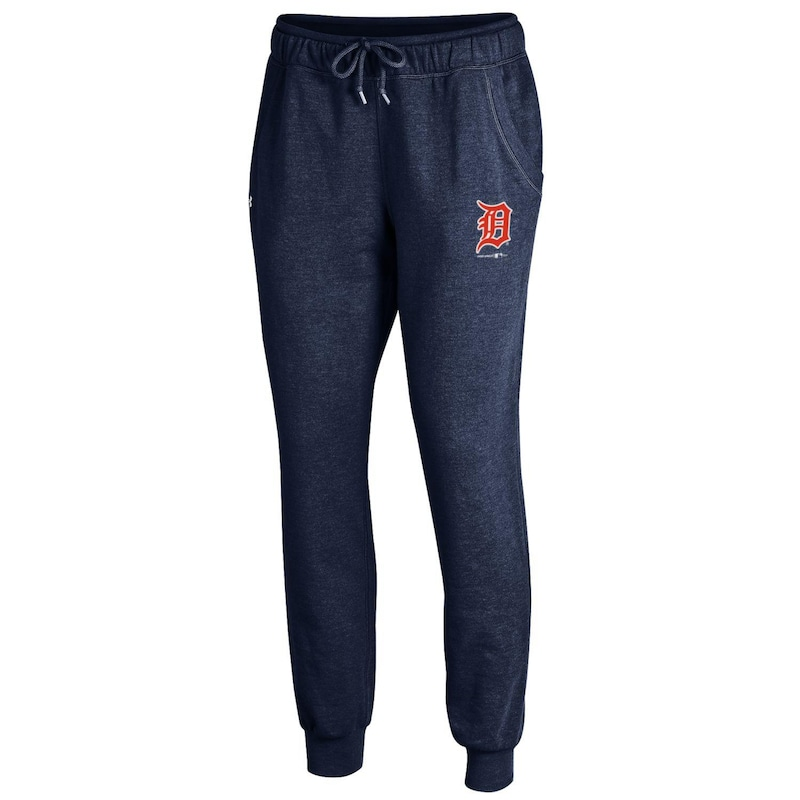 Detroit Tigers Under Armour Women's Sport Style Fleece Sweatpants - Heathered Navy