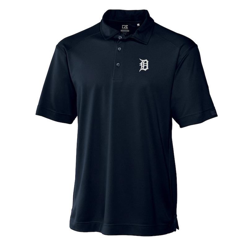 Detroit Tigers Cutter & Buck Big & Tall DryTec Genre Polo - Navy