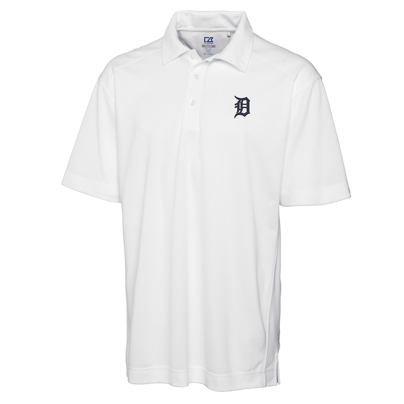 Detroit Tigers Cutter & Buck Big & Tall DryTec Genre Polo - White