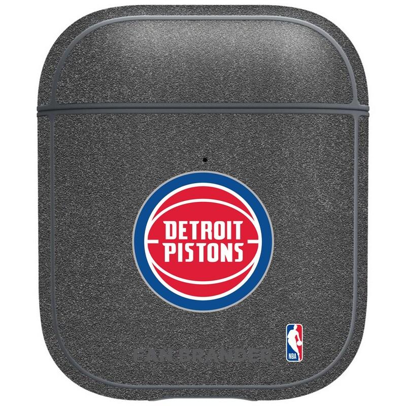 Detroit Pistons Air Pods Metallic Case - Gray
