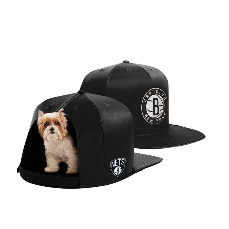 Brooklyn Nets Small Pet Nap Cap - Black