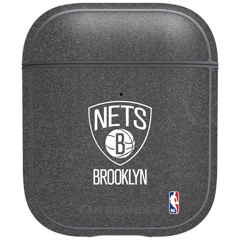 Brooklyn Nets Air Pods Metallic Case - Gray