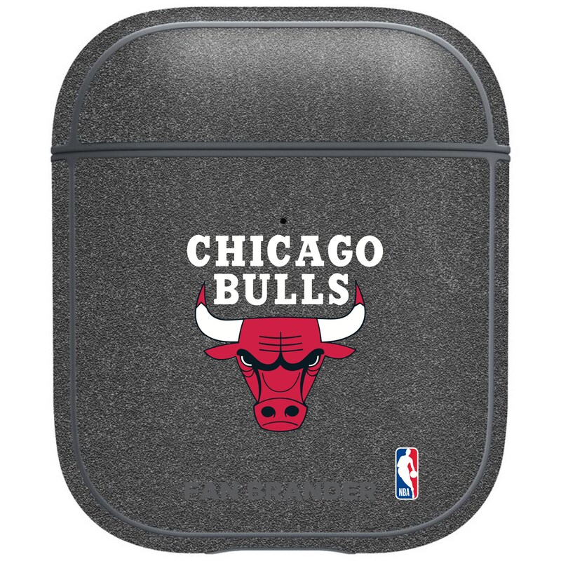 Chicago Bulls Air Pods Metallic Case - Gray